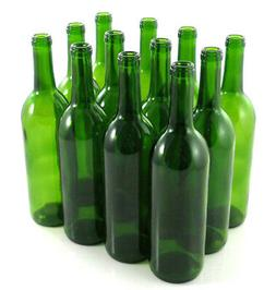 Green Wine Bottles, 750 ml Capacity