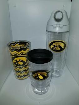 Iowa Hawkeyes 10 oz 12 oz Water Bottle  Tervis Lot of 3 Cups