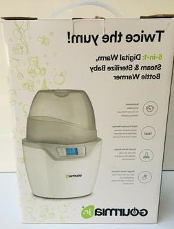 Gourmia Jr. JBW250 Double Baby Bottle Sterilizer and Warmer,