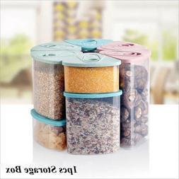 Kitchen Jars Food Case Cereal  Bins Rice Container Storage B