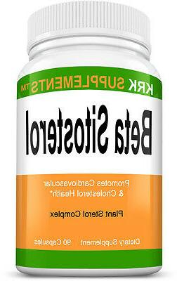 1 Bottle Beta Sitosterol 800mg serving 90 Caps Prostate Supp