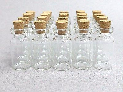 100 Clear Bottles Vials 2ml with Cork