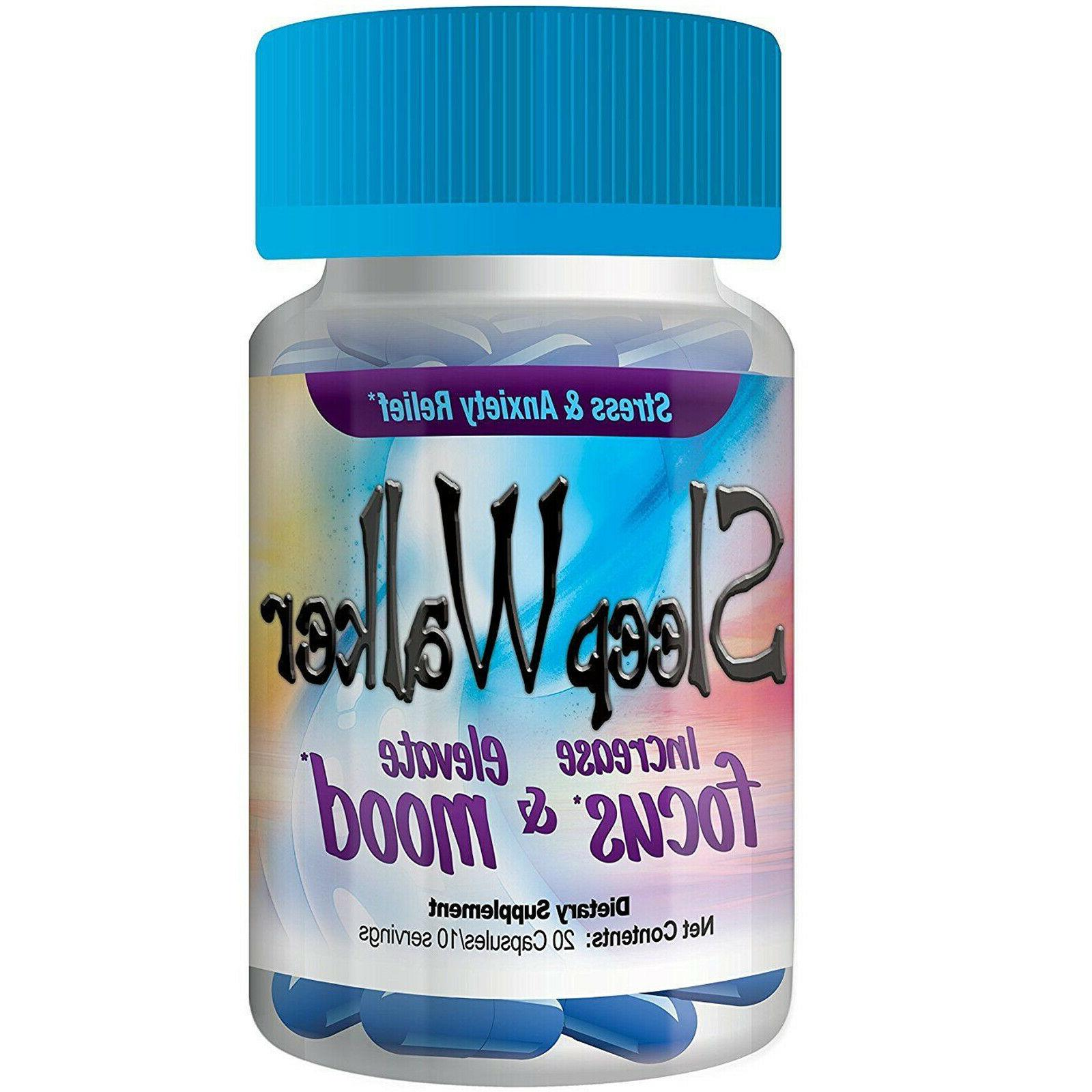 100 Pills Sleep Capsules & Mood Optimizer BOTTLES