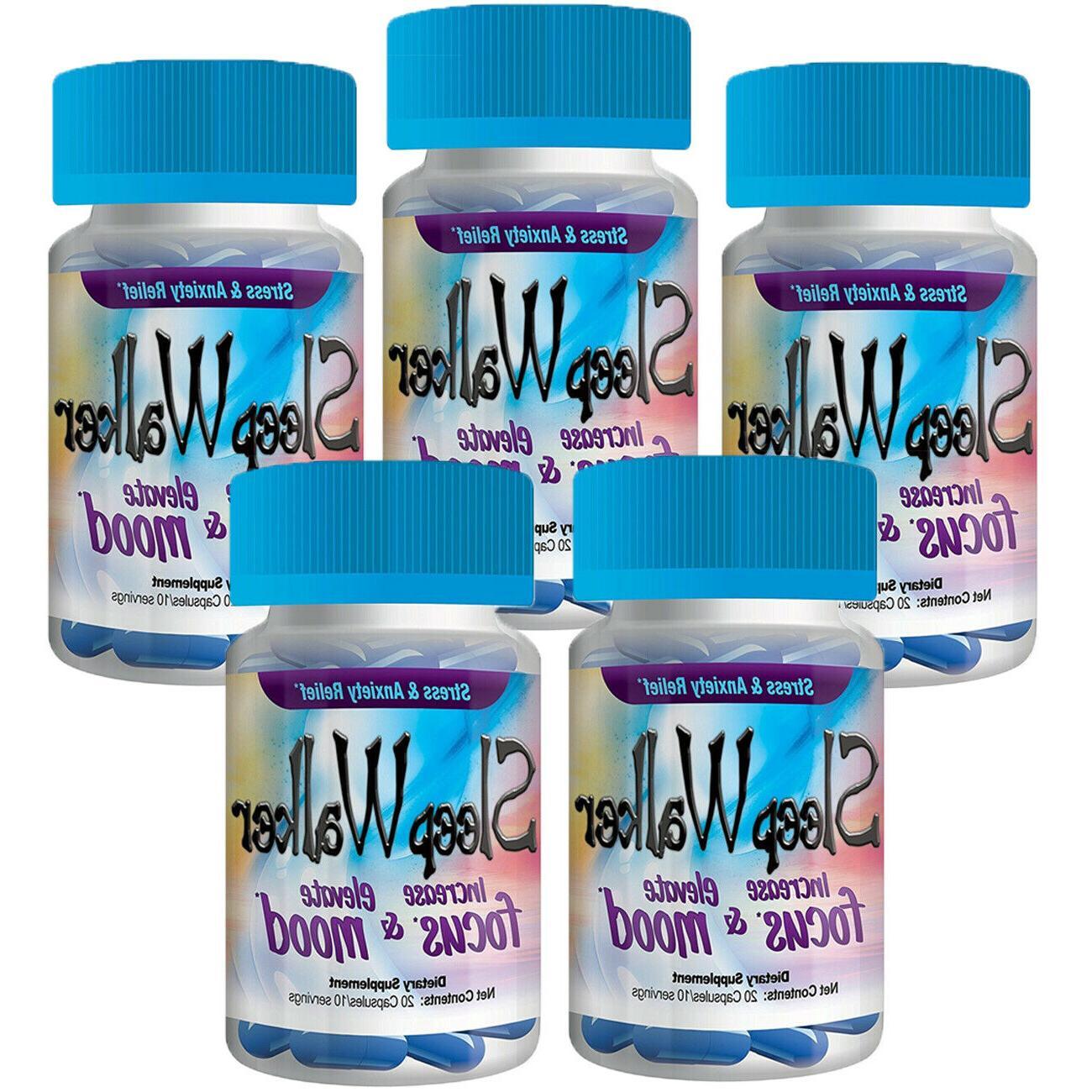 100 pills sleep walker capsules focus