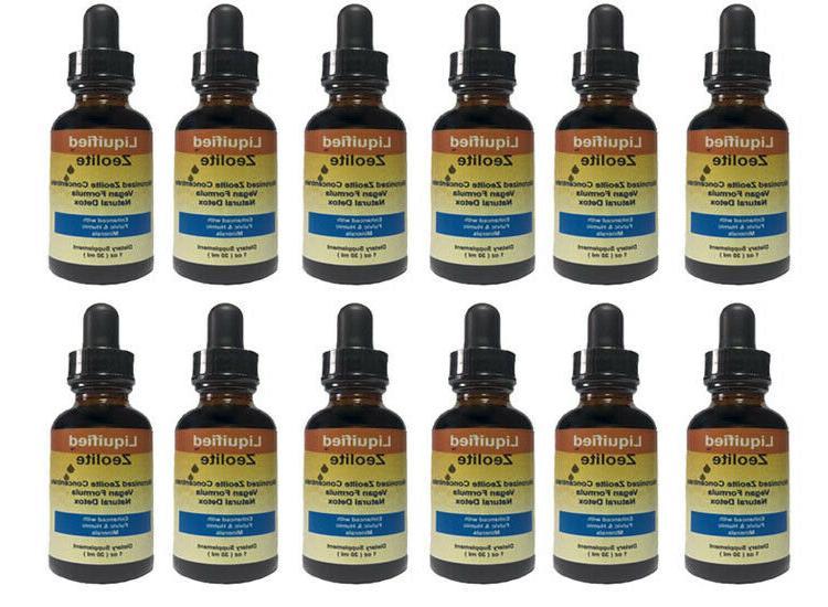 12 bottles natural liquid detox 1 oz