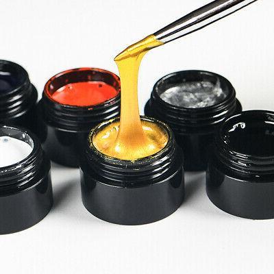 12Bottles/Set Spider Liner Gel Nail Polish Soak Off