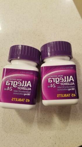 2 bottles allergy 24 hr 45 tablets