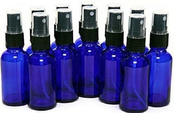 2 oz cobalt blue boston glass bottles
