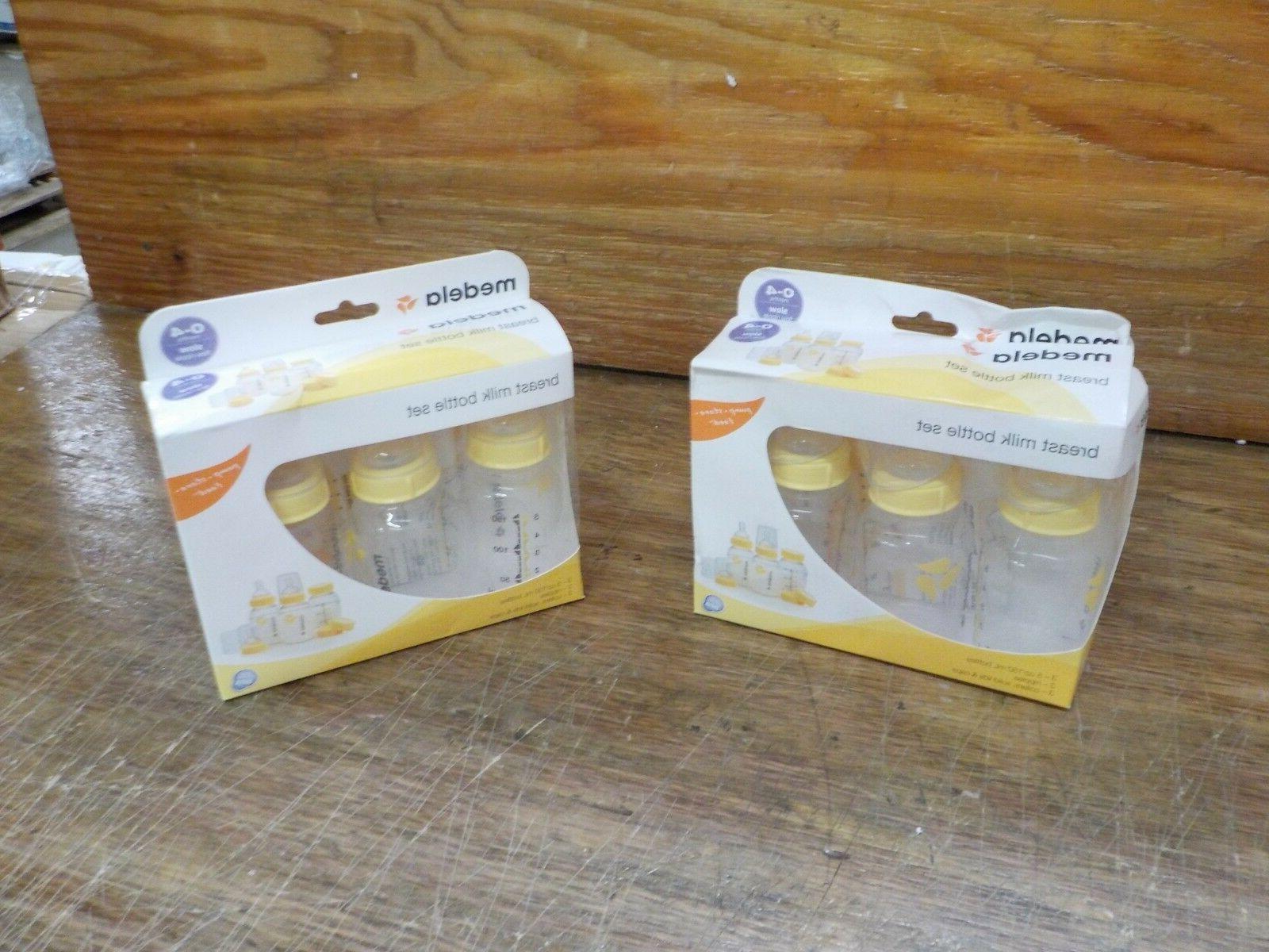 2 Sets Medela Breastmilk Bottle Set, 5 Ounce, 3 Count