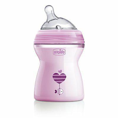 250ml natural feeling feeding bottle pink