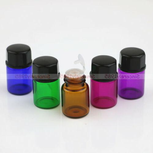 5 color glass dram bottles 2ml sample