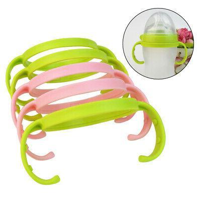 5Pcs Baby Solid Soft Anti-slip Bottle Handle Feeding Bottle