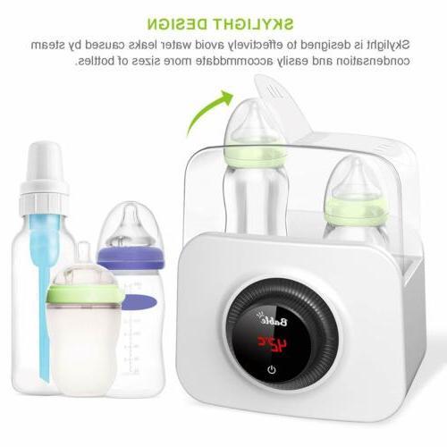 6-in-1 Baby Bottle Warmer Steam Sterilizer Food Breast Milk