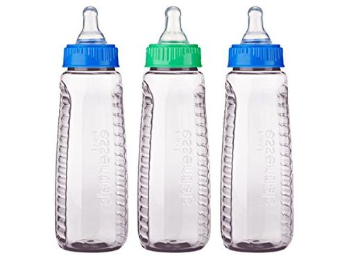 Gerber First Essentials Clearview Bottles with Silicone Nipp