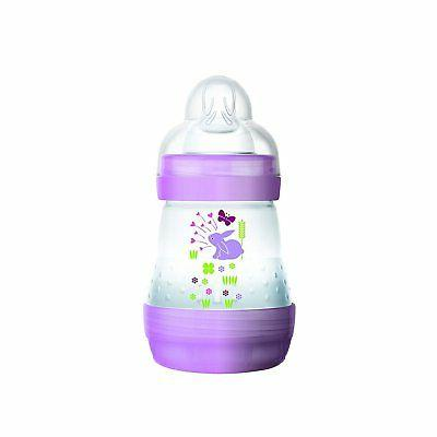 MAM Baby Bottles for Breastfed Babies MAM Baby Bottles Anti Colic 2-Count White 5 Ounces