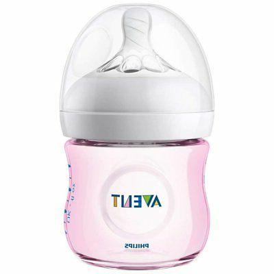 - NEW Avent 4oz Natural Baby Bottles