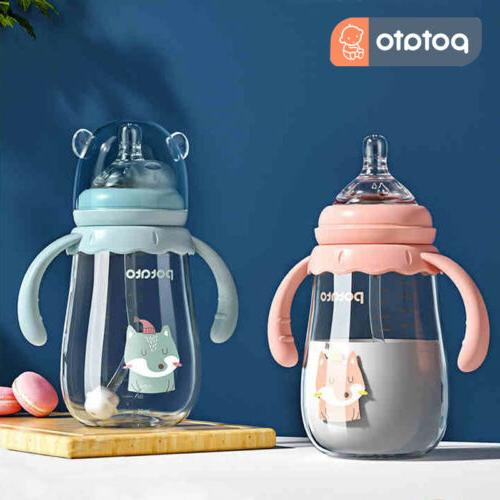 POTATO Medium Flow Anti-Colic BPA Free Baby Bottles Glass Bo