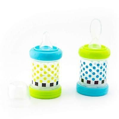Baby Cereal Feeder Food Nurser of Count Nipple Spoon