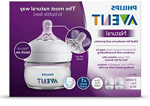 Philips Natural Bottle, 2oz, SCF019/25