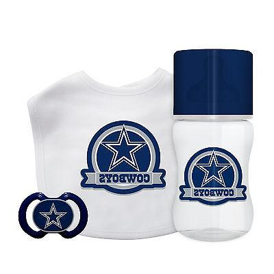Dallas Cowboys Infant Baby Fanatic Gift Set Bottle Bib Pacif