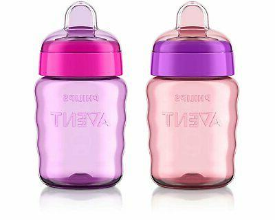 Philips Avent My Easy Sippy Cup Baby Girl Stage 2 Pink Purpl