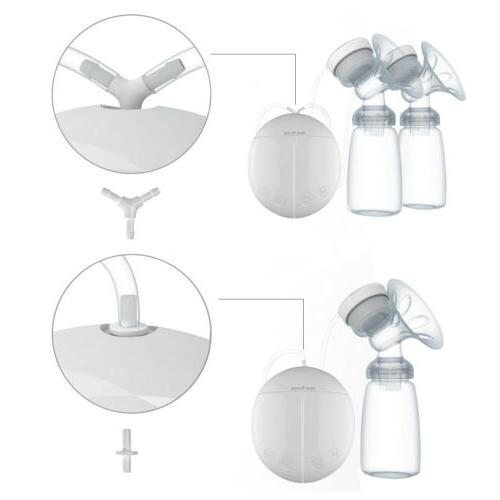Electric Baby Breast Pump BPA Free Microcomputer Bottle