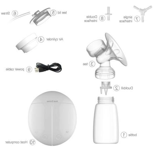Electric USB Pump Double Microcomputer 150ml Bottle