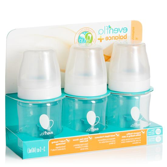 Evenflo Balance Plus 3-Pack Wide Neck Bottles - white, one s