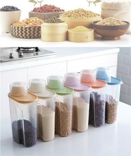 Food Storage Box Clear Container With Pour Lids Bottles Jars