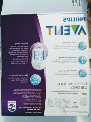 New Philips Avent Gently and Evenly Heats Compact Fast Bottl