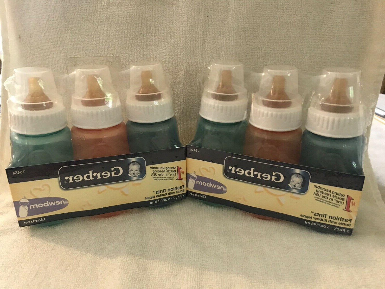 lot of 6 first essentials baby bottles