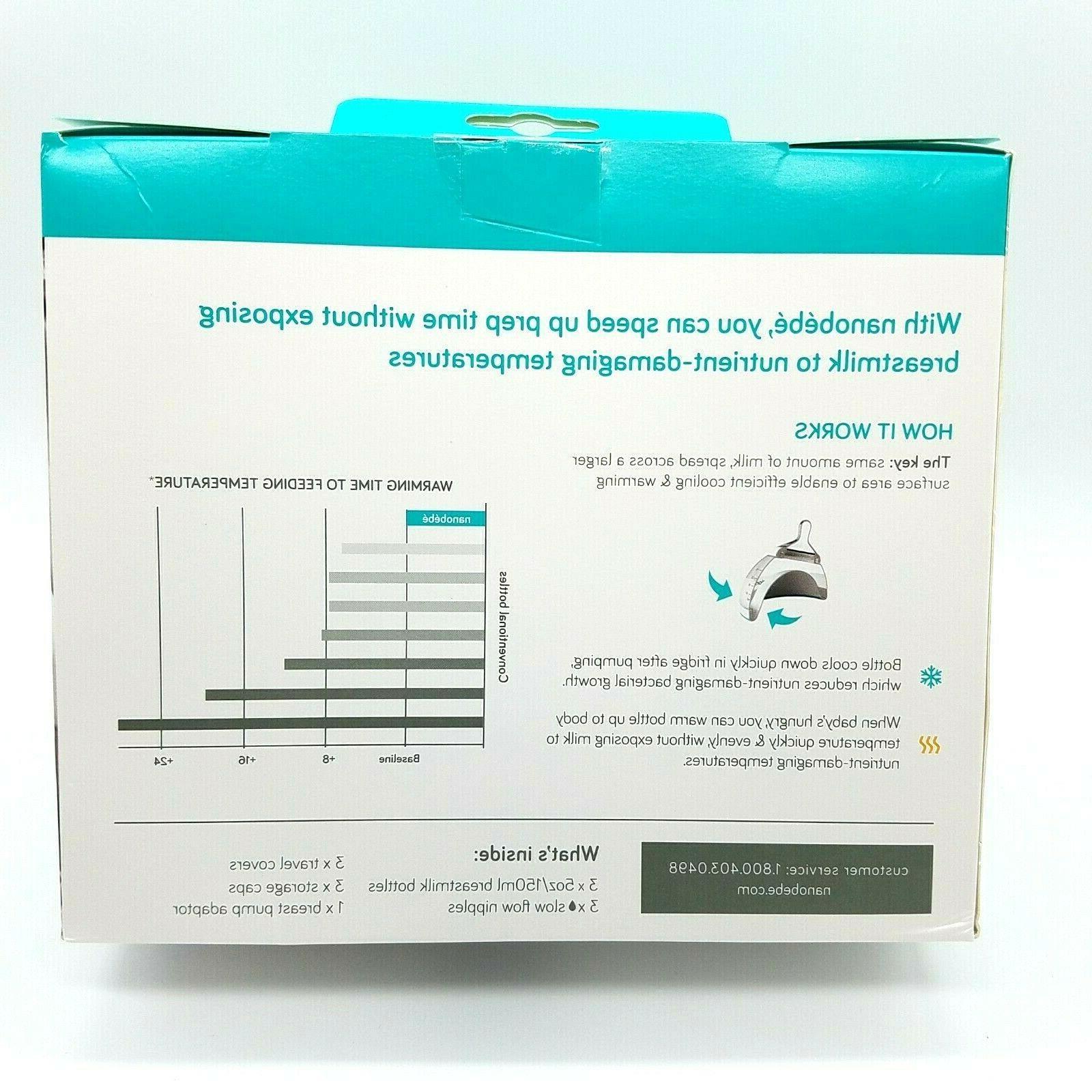 Nanobebe Bottles 0m+ Newborn 5oz/150ml 3