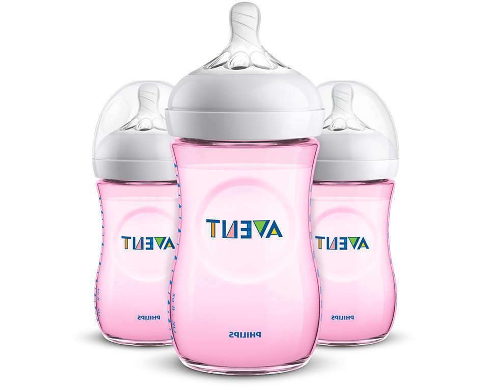 natural baby bottle pink 9oz 3pk scf013