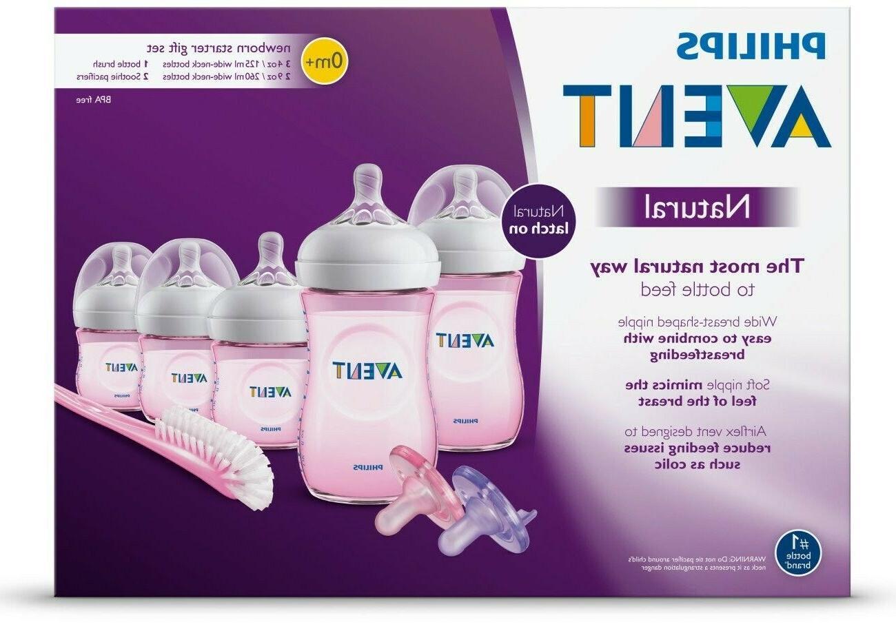 natural baby bottle pink gift set scd206