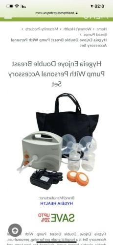 NEW Hygeia Enjoye Double Breast Pump with Accessories
