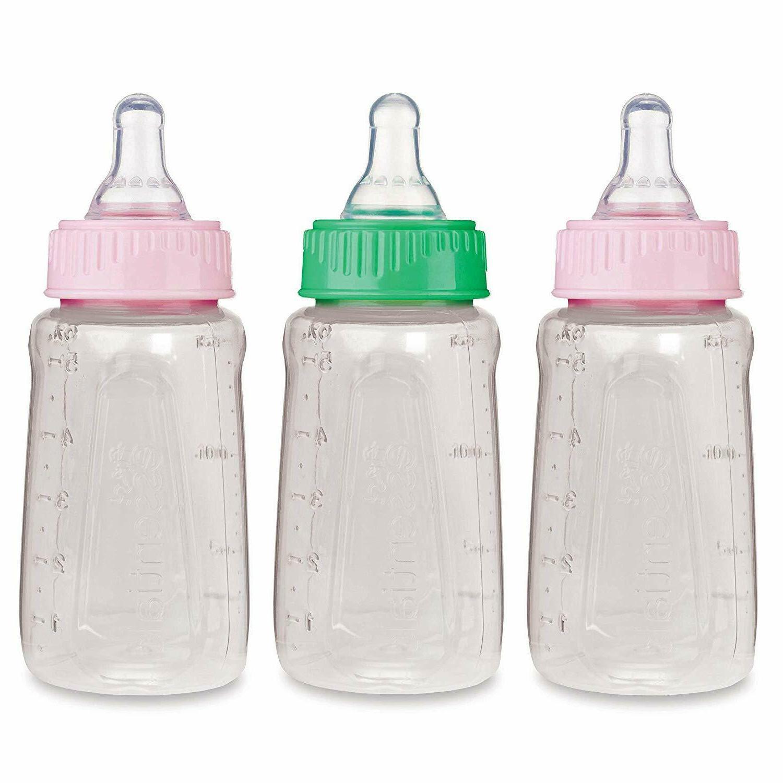 NUK Gerber 3 Piece First Essentials Clear View Bottle Girl S
