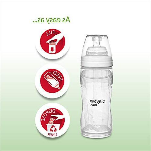 Playtex Baby Nurser Bottles with Liners Closer Breastfeeding, 4 Ounce - Pack