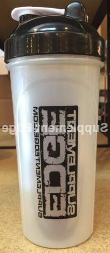Protein Supplement Shaker Bottle- Supplement Edge + 3 Free S