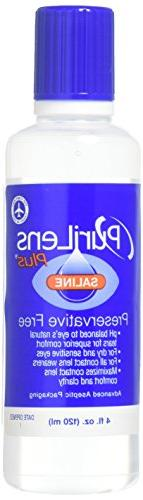 PuriLens Plus Preservative Free Saline Twelve 4-fl. ozBottle