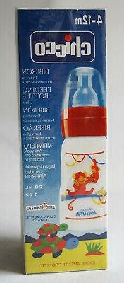 RARE VINTAGE 90'S CHICCO NATURE FEEDING BABY GLASS BOTTLE 12