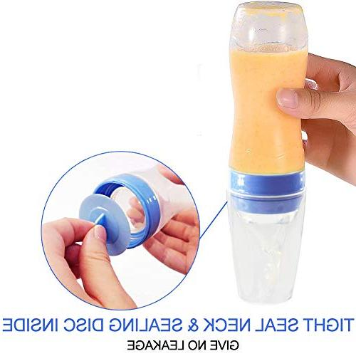 Baby 2 Silicone Food Dispensing Spoon Squeeze with - Bottle for Baby