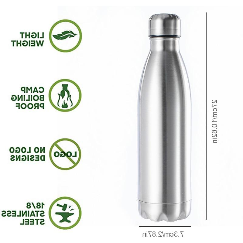 Stainless Steel <font><b>Bottle</b></font> <font><b>Thermos</b></font> Insulated Flask Single Hot Cold Water Cola 350/500/750/1000ml