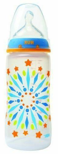NUK Tie Dye Wide Neck Baby Bottle with Silicone Nipple 10 Ou