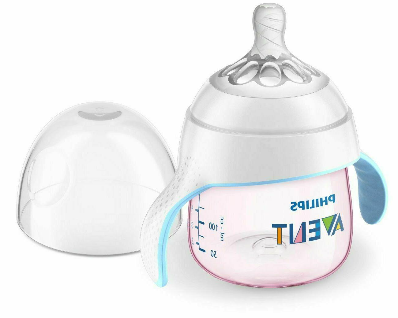 2 Pack SCF262//03 5oz Philips AventMy Natural Trainer Sippy Cup Clear