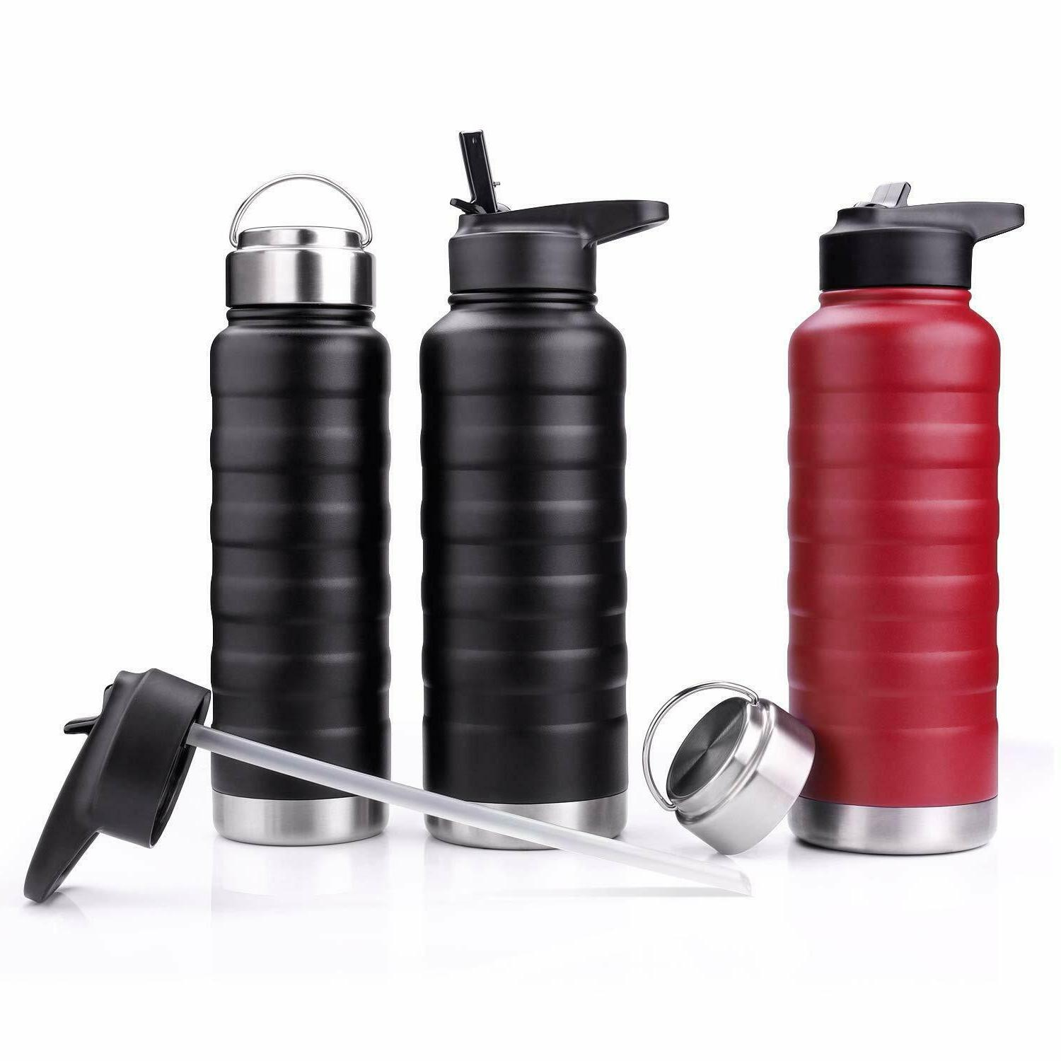 water bottle with straw lid 24 oz