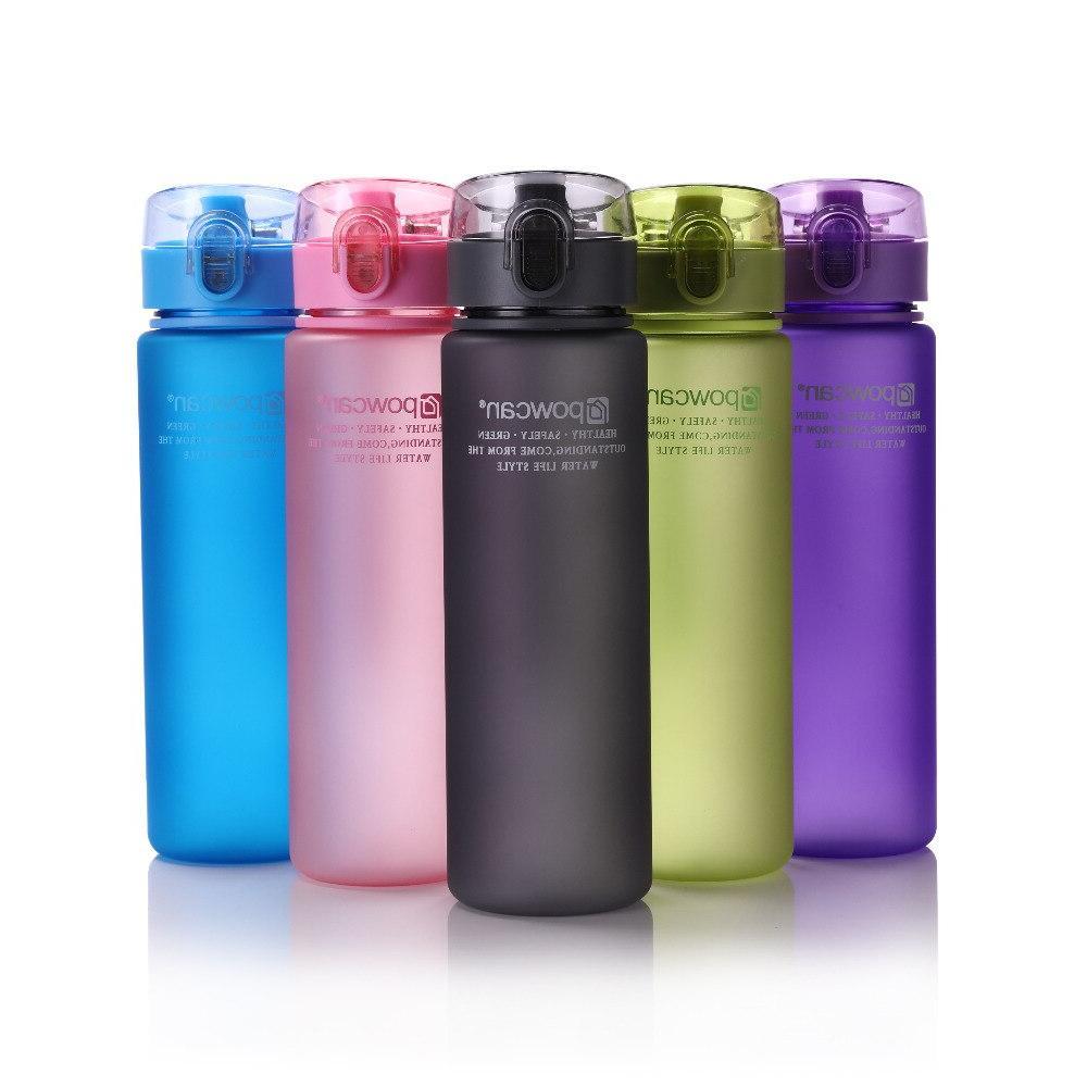 Water <font><b>Bottle</b></font> 560ML 400ML Plastic Drinkware Sport School Leak Seal Gourde Climbing <font><b>Bottles</b></font>