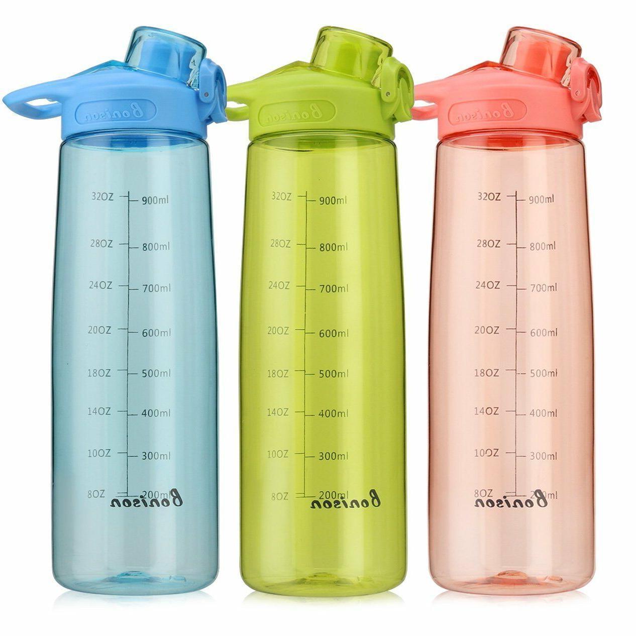 wide mouth sports water bottle flip top