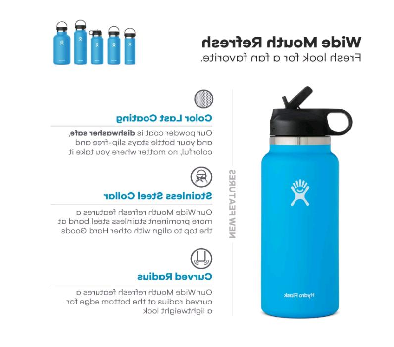 Hydro Flask Water Bottle, Straw - Colors 32oz