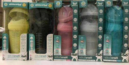 comotomo 8 Ounce Baby Bottles Pink 2 Pack BPA Free Medium Fl