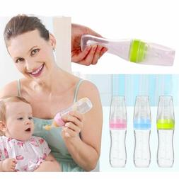 Leak Proof Spoon Cereal Juice Feeding Bottles 120ml Food Gra